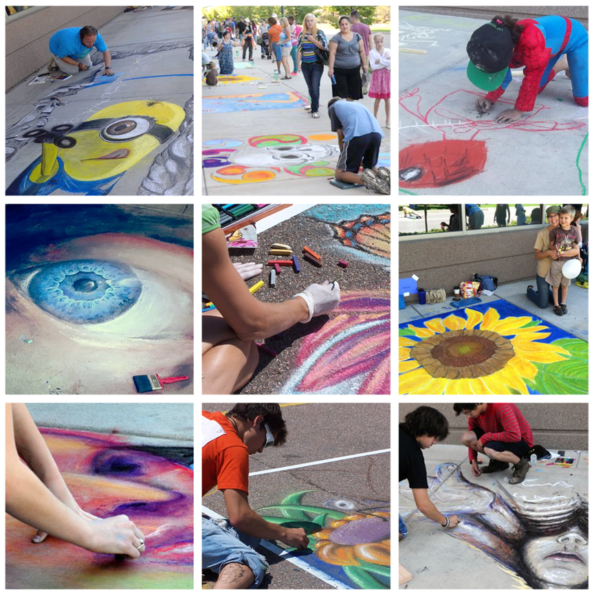 chalk art grid